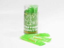 ココナッツオイルの充填とパッケージ対応